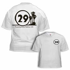 White T-Shirt with black 29 Palms logo