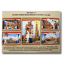 Oasis of Murals #5 Desert Storm homecoming and victory parade